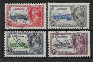 ASCENSION SG31/4 1935 SILVER JUBILEE SET USED