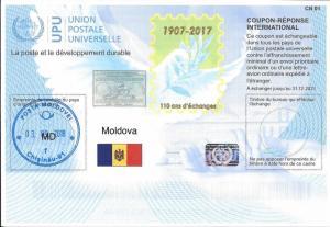 MOLDOVA - (IRC) INTERNATIONAL REPLY COUPON (110th Year) (POSTMARKED), MNH