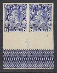 Turks & Caicos Islands, Scott 65 var (SG 181 var), Imperforate Plate Proof