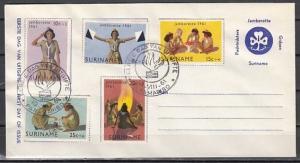 Suriname, Scott cat. B80-84. Girl Scout Jamboree. First Day Postal Envelope.