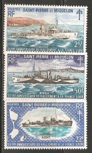 St Pierre & Miquelon SC 412-14 MNH