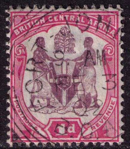 British Central Africa # 44 Used VF Port Johnston Cat $ .80