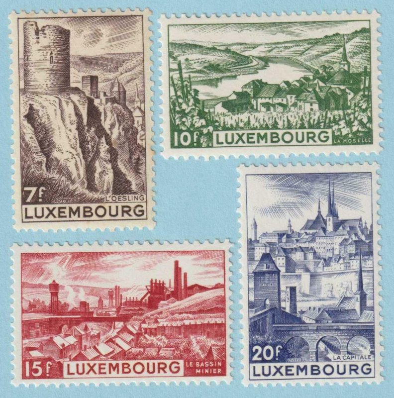LUXEMBOURG 246 -249 MINT HINGED OG NO FAULTS VERY FINE
