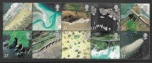 Great Britain # 2038a Coastlines - block of 10 designs  (1) Mint NH