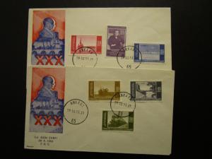 Turkey 1953 30th Anniversary of Republic Series FDC/2 Covers/Kamer Cachet- Z7013