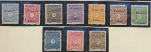 Somali Coast (Djibouti) Stamps Scott #J29 To J38, Mint Never Hinged - Free U....