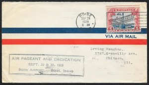 UNITED STATES C11 on Event Cover Air Pageant c1928 Boise to Chicago