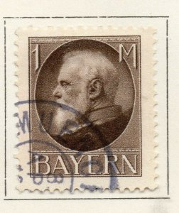 Bayern Bavaria 1914-18 Early Issue Fine Used 1M. NW-120709