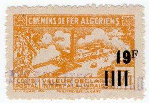 (I.B) France Colonial Railway : Algeria Chemins de Fer 19F on 17.1F