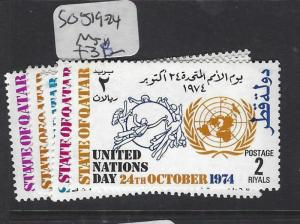 QATAR  (PP2609B)   UPU  SG 519-524   MNH
