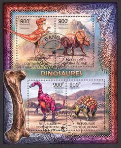 Central African Republic 2012 Dinosaurs Sheet Used / CTO