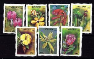 Tanzania 1303-09 NH 1995 Flowers set