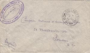 French Military Mission to British Army FPO D.31, Censored, See Remark (M1932)
