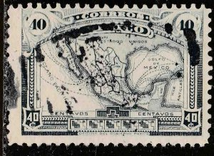 MEXICO 512, 40¢ MAP OF MEXICO. USED. F-VF. (365)