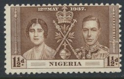 Nigeria  SG 47  SC# 51  MH Coronation 1937 please see scan