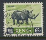 Kenya SG 27 Used    1966 definitive animals  rhino see details