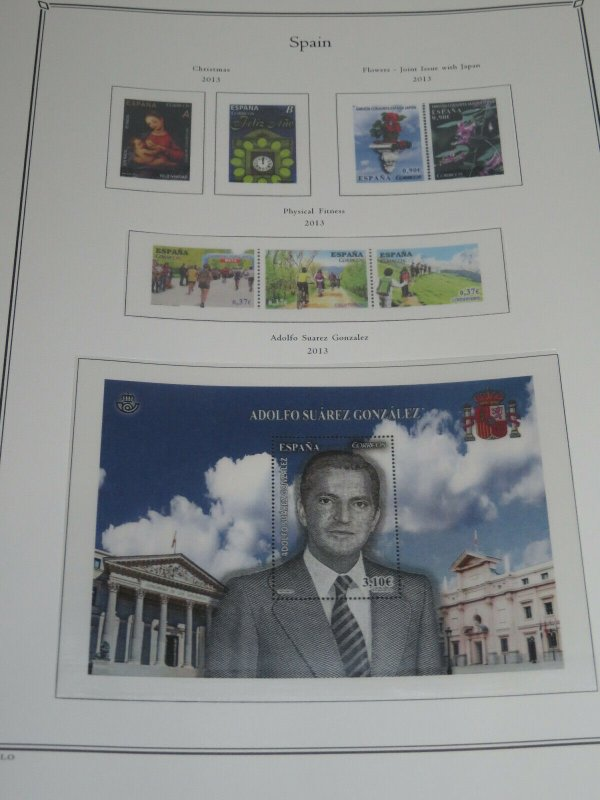 5 Spain Palo Premium Albums with Hingeless Color Pages 1850-2013 Retail $2150+