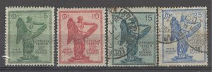 COLLECTION LOT # 4966 ITALY #136-9 MH/USED 1921 CV+$17