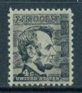 1282 4c Lincoln Barely Clears MNH Plt/4 LR 28834 F15315