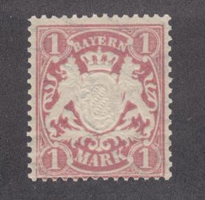 Bavaria Sc 71a MNH. 1899 80pf Coat of Arms on toned paper