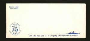 USA USS Little Rock (CG-4) US Navy Flag Ship 200th Anniversary #10 Envelope MNH