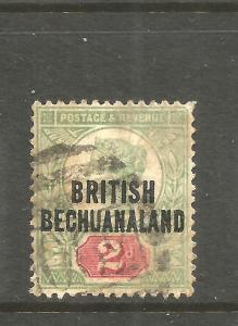 BRITISH BECHUANALAND  1891-04  2d  QV  FU   SG 34
