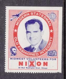Richard Nixon Campaign Label