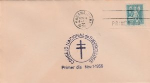 1956 Cuba Stamps Fighting Tuberculosis Hands Protecting Child Blue  FDC