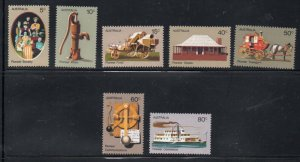 Australia Sc 532-38 1972 Pioneer Life stamp set mint NH