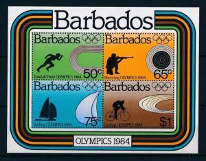 [55647] Barbados 1984 Olympic games Shooting Sailing Cycling MNH Sheet