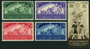 Egypt 273-277, MNH. Michel 329-233. Agricultural & Industrial EXPO, 1949.Statue.