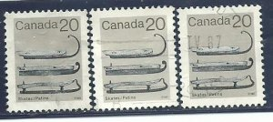 Can #922    (3)   used VF  1982  PD