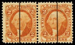 B360 U.S. Revenue Scott R10c 2c Express orange, horizontal pair, photographer