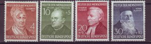 J25170 JLstamps 1952 germany mh set #b327-30 famous people