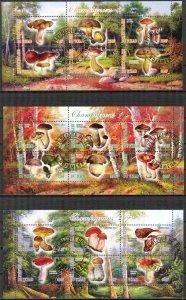 {g149} Chad 2012 Mushrooms 3 sh. Used / CTO Cinderella