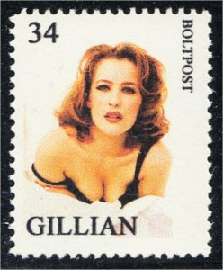 Gillian Anderson Actress Fantasy Stamp Artistamp by BoltPost Local Post