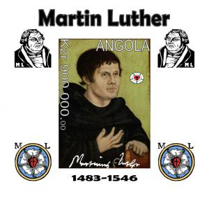 ANGOLA SHEET IMPERF MARTIN LUTHER