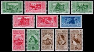 Italian Colonies Scott 13-19, C8-C12 (1932) Mint LH VF, CV $63.75 B