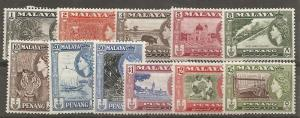 Malaya Penang 45-55 1957 Views set NH