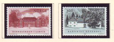 Norway Sc 950-1 1989 Manors stamps NH