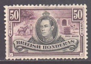 Br Honduras Scott 123 - SG158, 1938 George VI 50c used