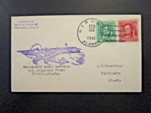 Alaska 1940 Circle CDS Emergency Mail Cover - Z5642