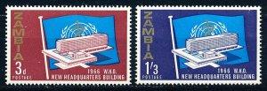Zambia #26-27  Set of 2 MNH