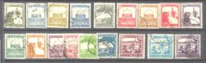 Palestine 63-81, 18 used values SCV18.95