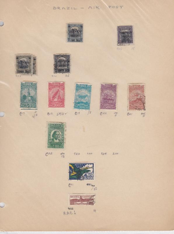 Brazil Air Post Stamps Ref: R6345