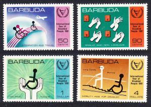 Barbuda International Year for Disabled people 4v SG#576-579
