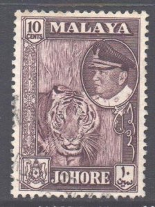 Malaya Johore Scott 163 - SG160, 1960 Sultan 10c used