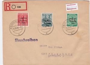 Germany Soviet Zone 1948 Waldheim to Flemsburg R20713