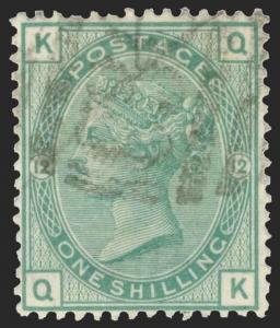 Great Britain Scott 64 Plate 12 Gibbons 150 Plate 12 Used Stamp