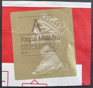 GB ??? Gold Labels used A Royal Mail.h on Paper - Queen Elizabeth 2013 [R785]
